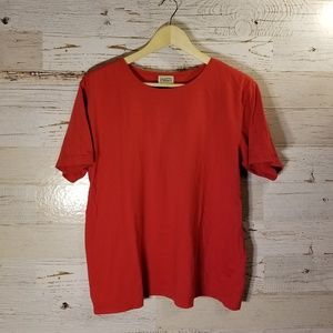 Classic Elements red short sleeve vintage top